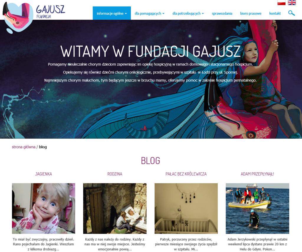 Blog Fundacji Gajusz
