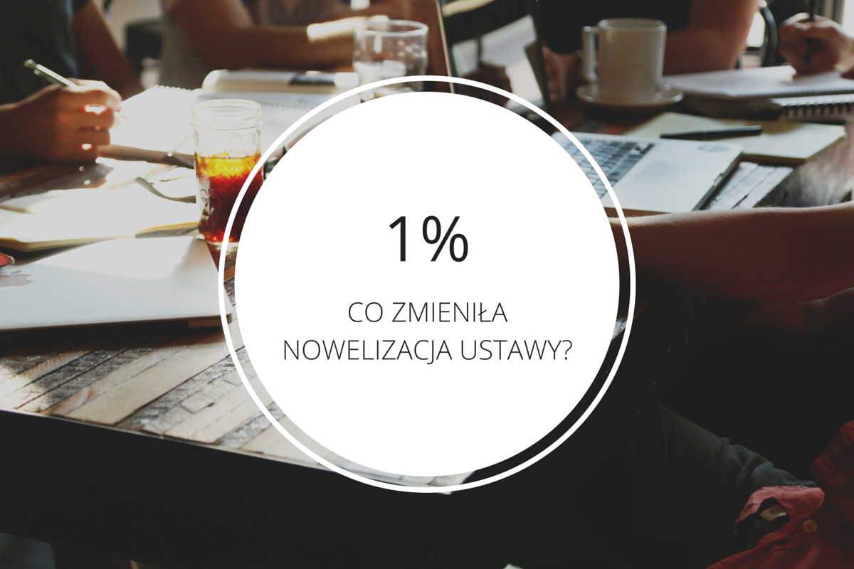 1% - nowelizacja ustawy